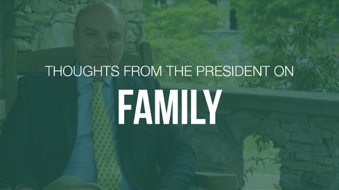 President King on family