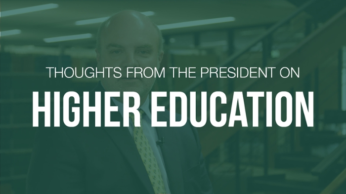President King on higher education