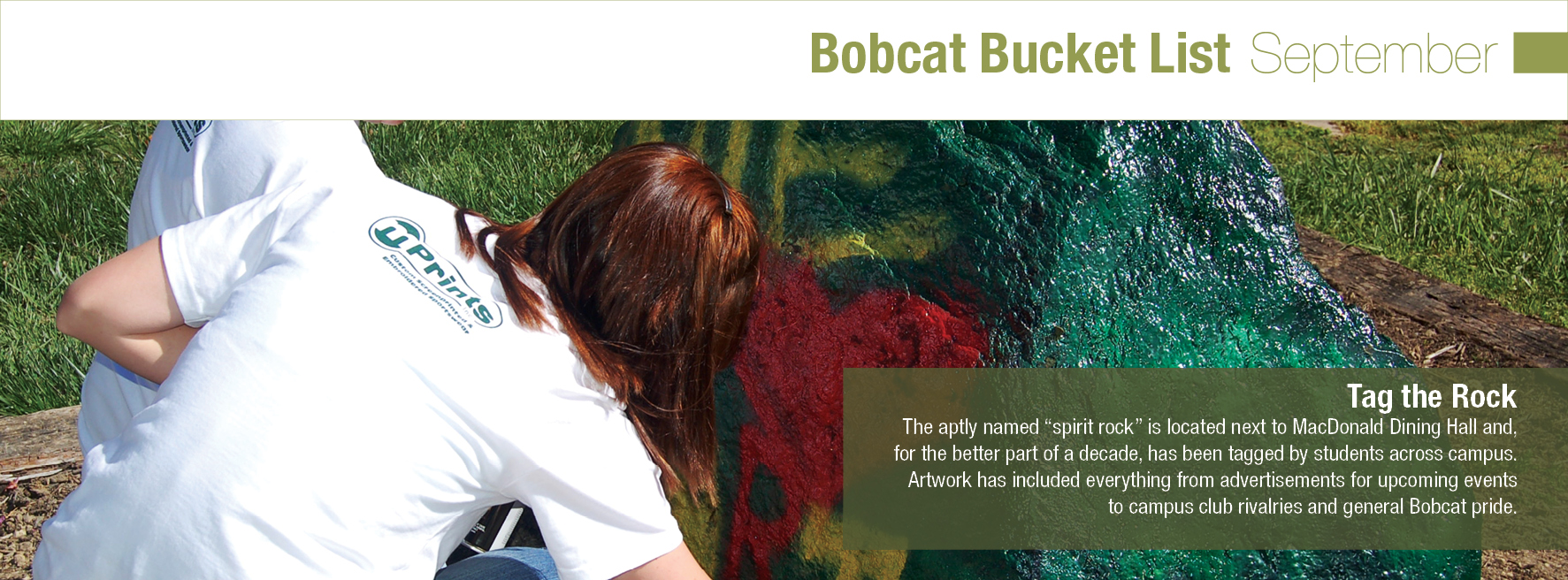 Bobcat Bucket List September